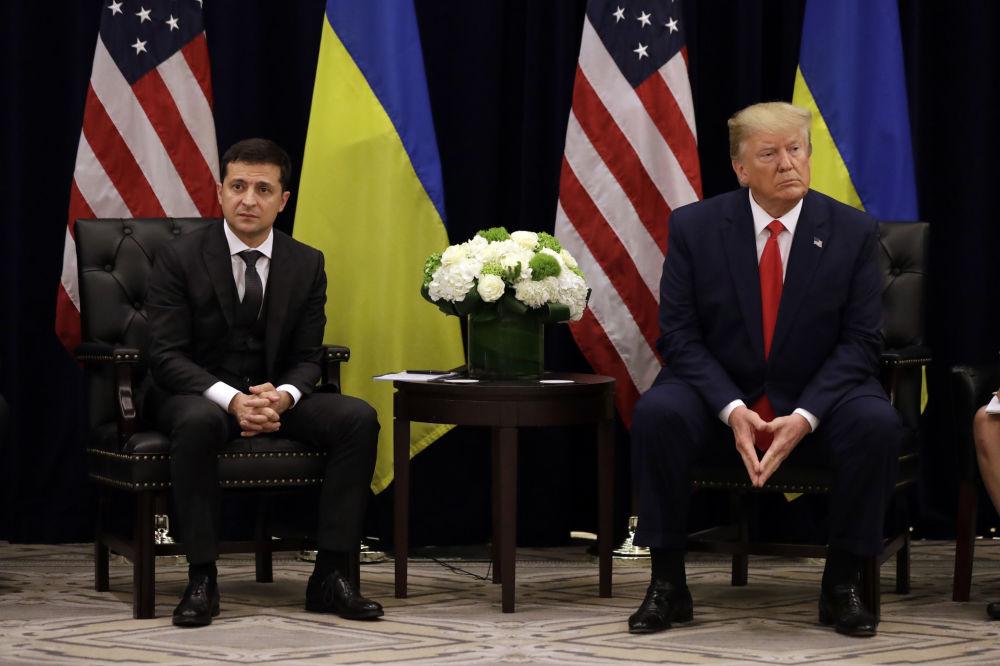 Ukrajinský prezident Vladimir Zelensky na setkání s prezidentem USA Donaldem Trumpem v New Yorku