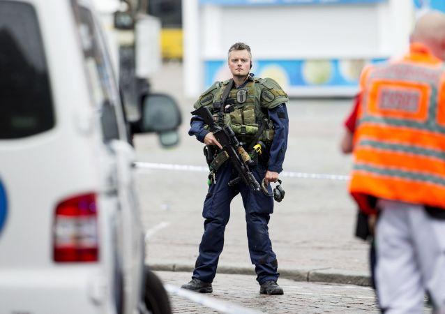 Důstojník finské policie (ilustrační foto)