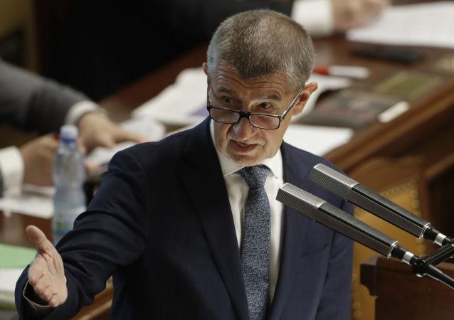 Český premiér Andrej Babiš v Praze