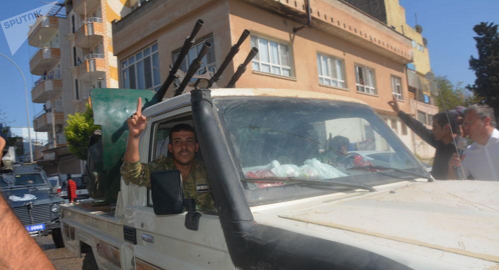 Syrské opoziční jednotky podporované Tureckem