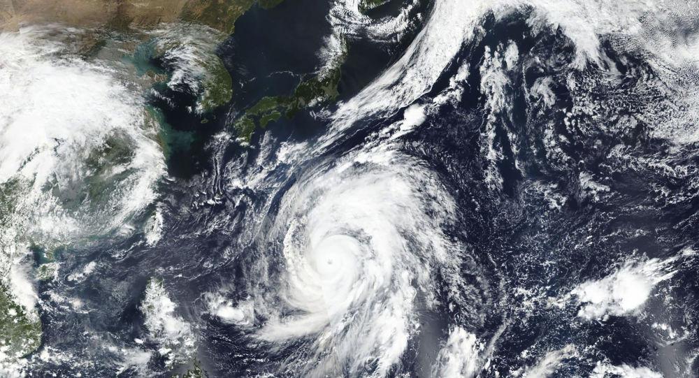 Foto tajfunu Hagibis z vesmíru