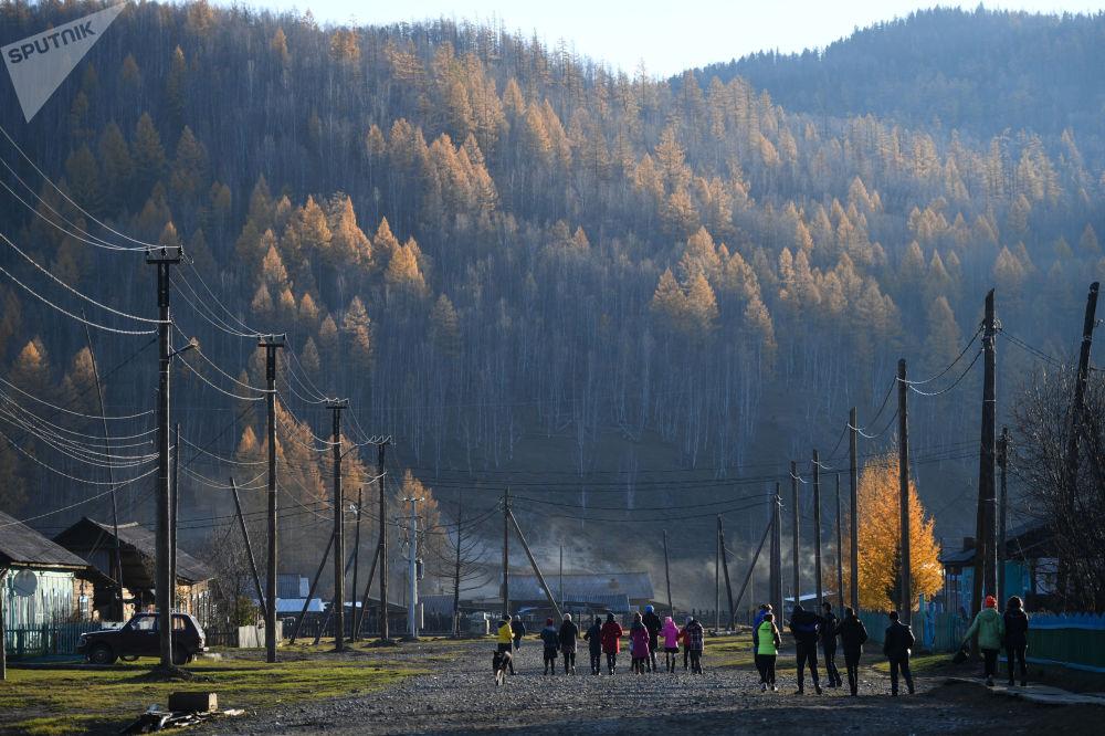 Vesnice Alygdžer v Irkutské oblasti