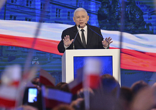 Předseda polské politické strany Právo a spravedlnost Jaroslaw Kaczyński