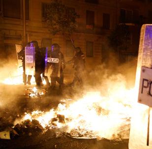 Las protestas en Cataluña