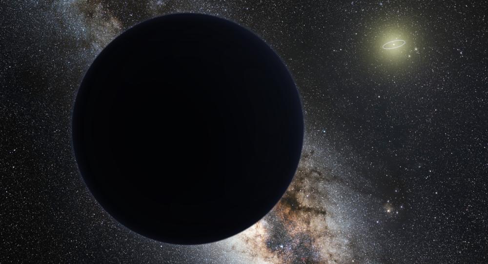 Umělecké zobrazení nové planety ve Sluneční soustavě