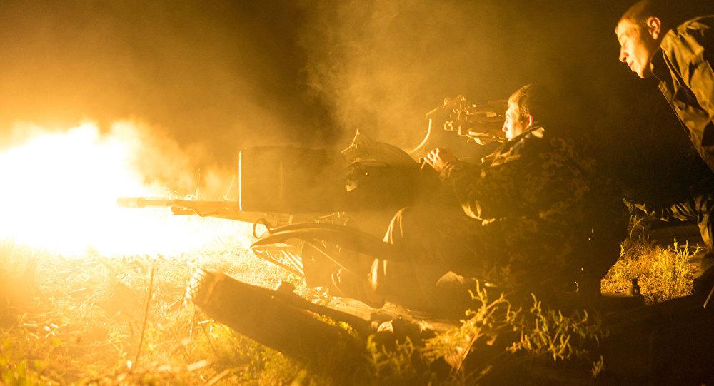 Ukrajinští vojáci u vesnice Avdějevka. Archivní foto