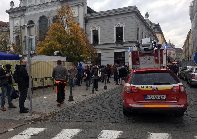 Slovenští hasiči. Budova Staré tržnice, Bratislava