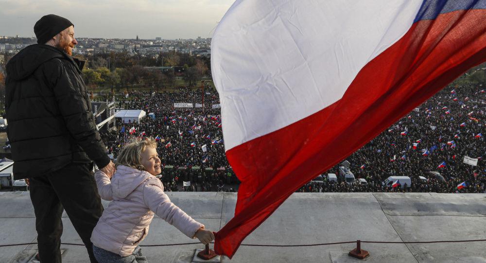 Protivládní protest v Praze. 16. listopadu 2019