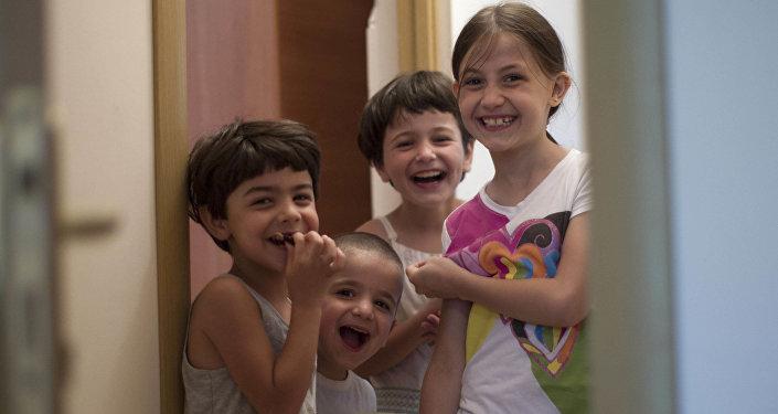 Děti syrských Čerkesů