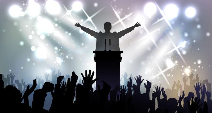 Politik během projevu