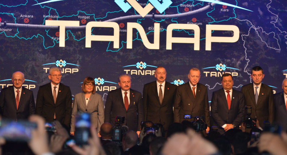 Ceremonie spuštění Transanatolského plynovodu (TANAP)