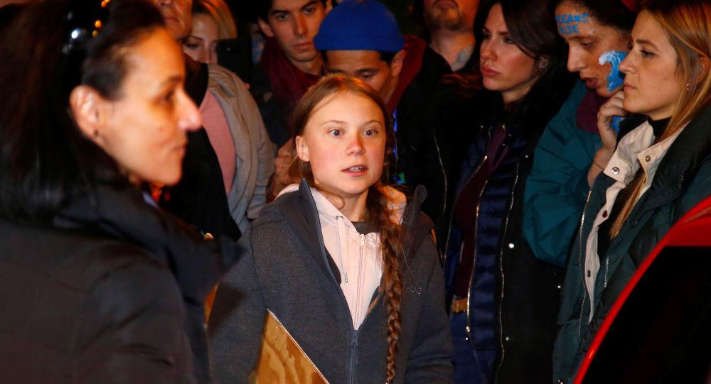 Greta Thunbergová v Madridu
