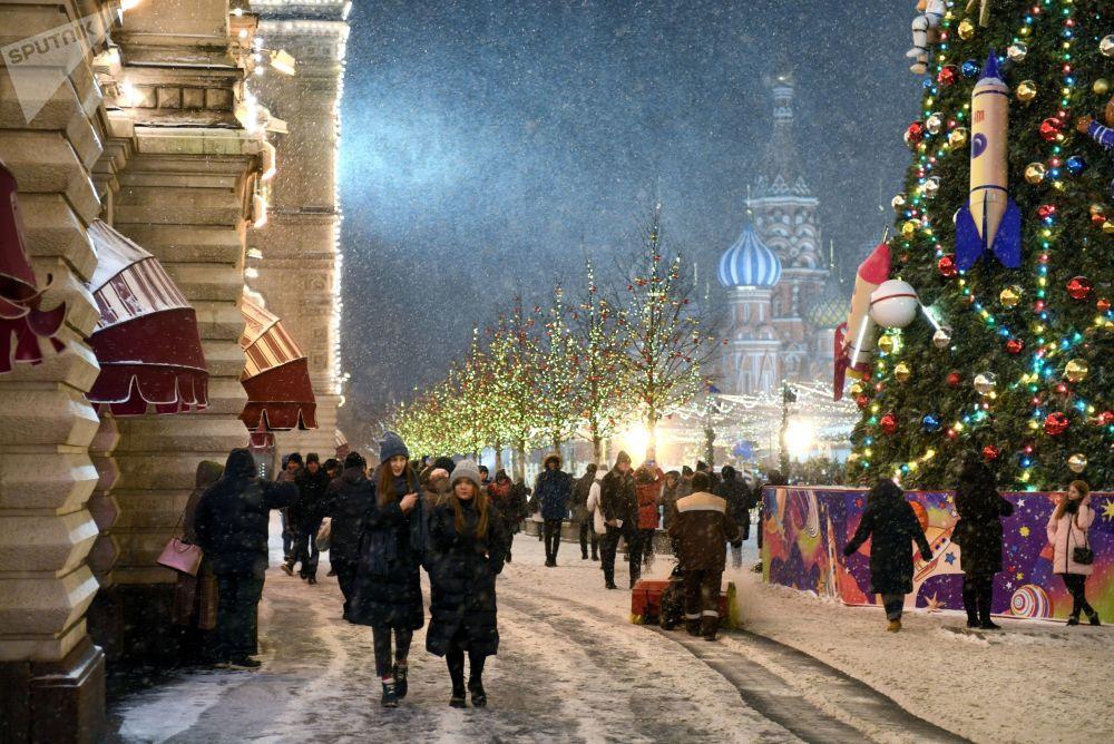 Novoroční výzdoba Moskvy.