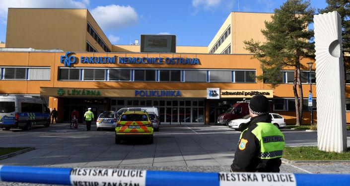 Policie v nemocnici v Ostravě