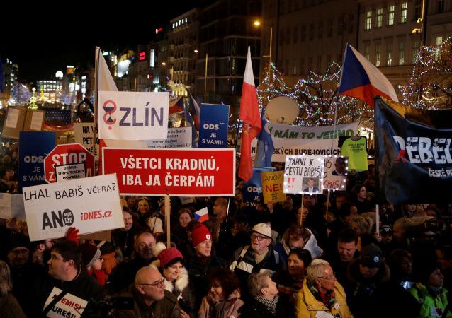 Demonstrace Milionu chvilek proti premiérovi Babišovi