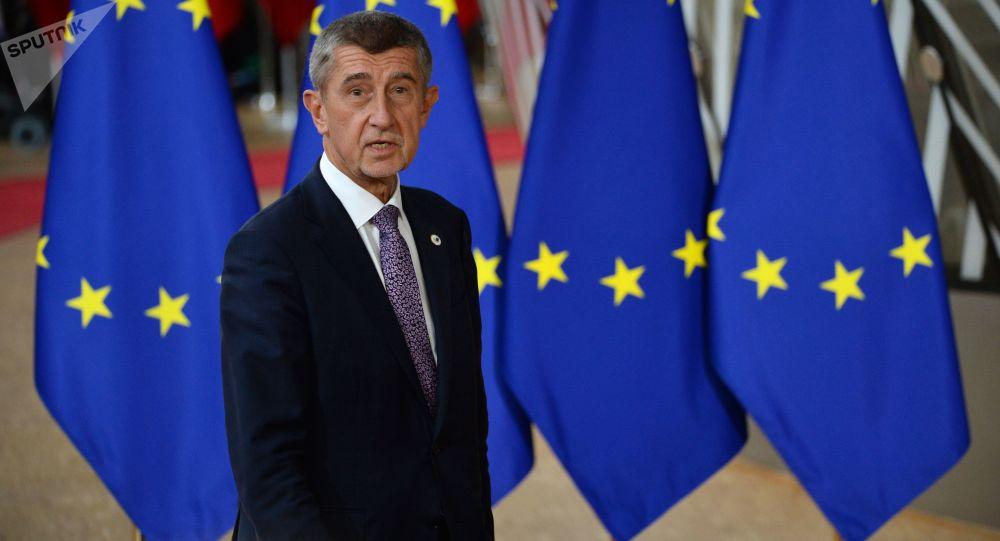 Český premiér Andrei Babiš na Summitu EU v Bruselu