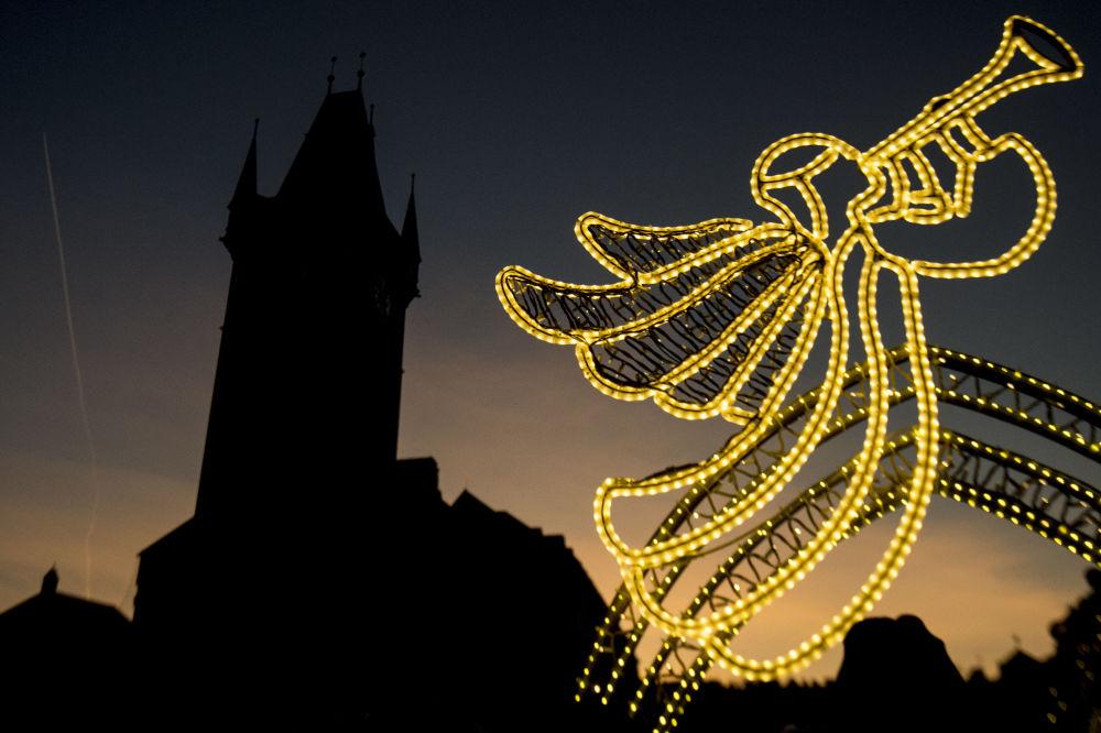 Vánoční dekorace na Staroměstském náměstí v Praze
