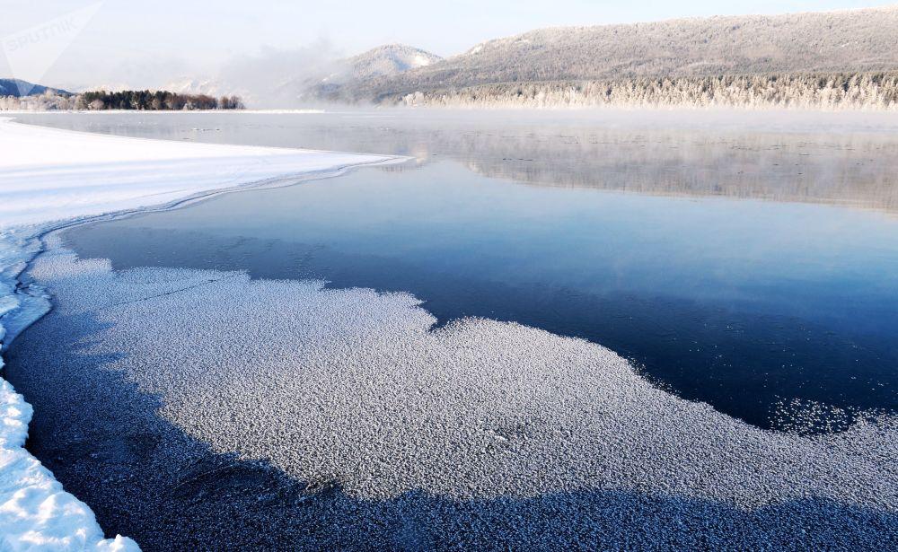 Řeka Jenisej v Krasnojarském kraji