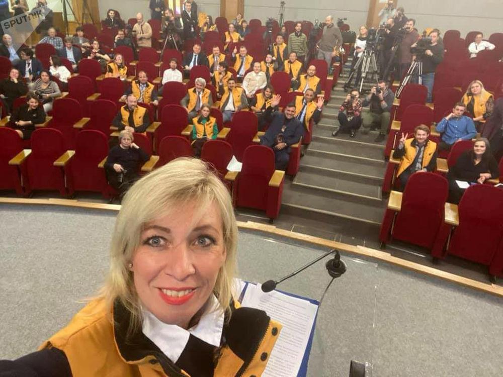 Mluvčí ruského MZV Maria Zacharovová během akce #SputnikSíla