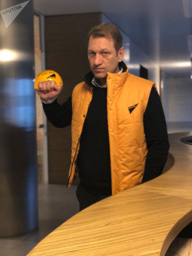 Ředitel redakce Sputnik pro blízké zahraničí Andrej Bogdarenko během akce #SputnikSíla