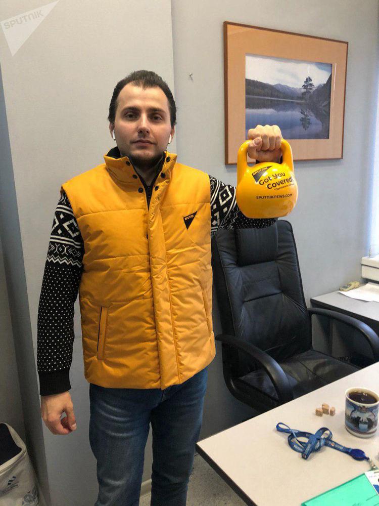Ředitel pro zahraniční vysílání agentury Sputnik Tural Kerimov během akce #SputnikSíla