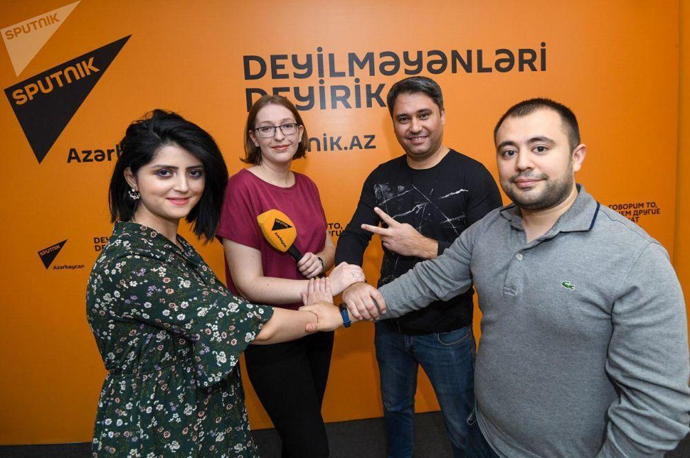 Zaměstnanci redakce Sputnik Ázerbájdžán během akce #SputnikSíla