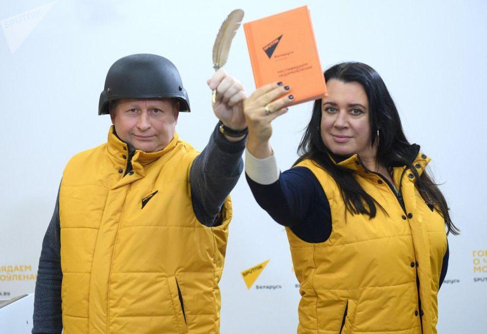 Zaměstnanci redakce Sputnik Bělorusko během akce #SputnikSíla