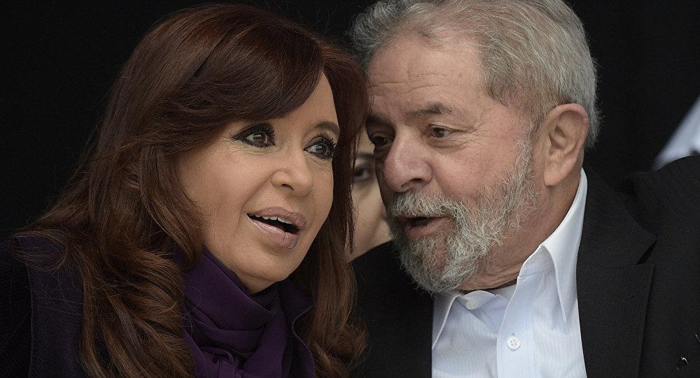 Argentinská prezidentka Cristina Kirchner a bývalý prezident Brazílie Luiz Inácio da Silva