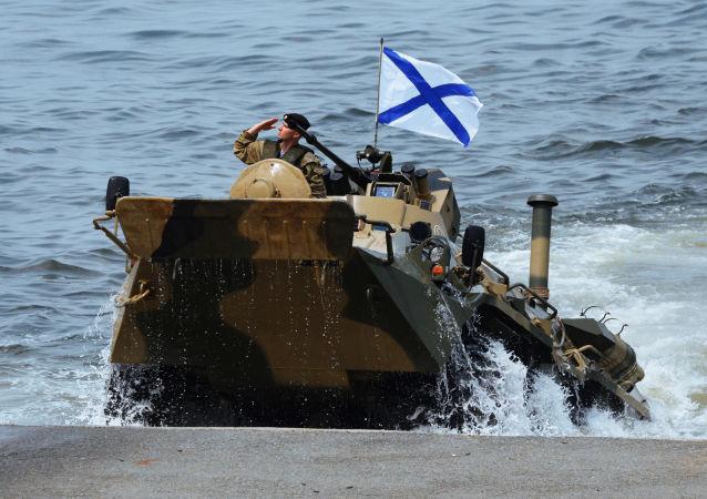 Výsadek námořní pěchoty Tichooceánského loďstva RF. Ilustrační foto