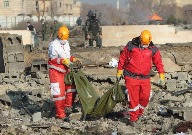 Místo pádu ukrajinského letadla