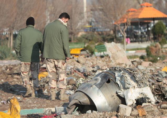 Misto havárie ukrajinského Boeingu 737-800 v Íránu
