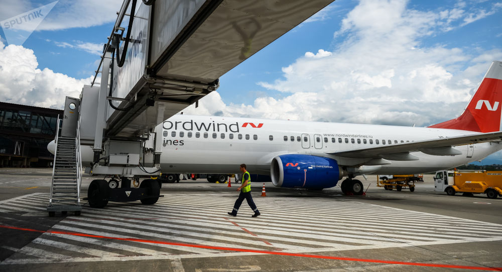 Letadlo společnosti Nordwind Airlines