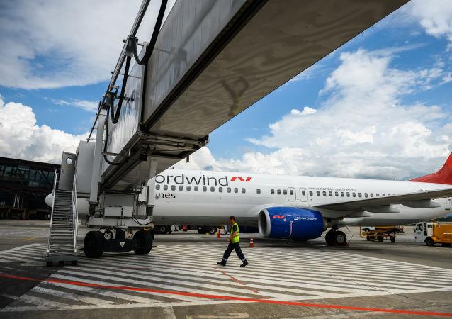 Letadlo Boeing 737 společnosti  Nordwind Airlines