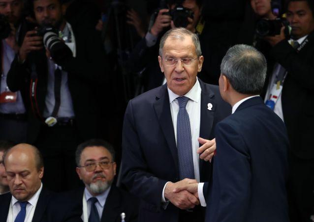 Ruský ministr zahraničních věcí Sergej Lavrov na setkání ministrů zahraničí Ruska a ASEAN v Thajsku
