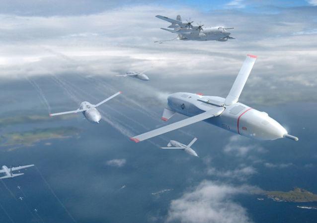 Ilustrace amerického dronu Gremlins