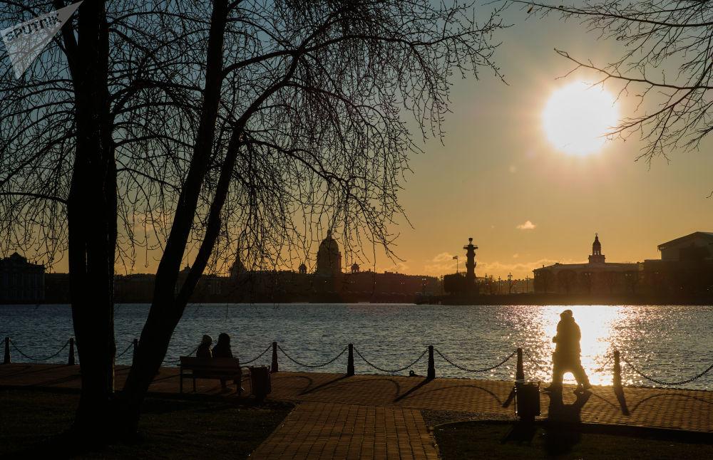 Výhled na Vasiljevský ostrov