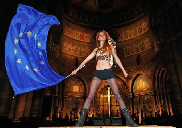 Aktivistka ze skupiny Femen