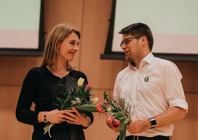 Noví předsedové Zelených -  Magdalena Davis a Michal Berg