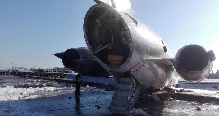 Letoun společnosti Caspian Airlines, který vyjel v Íránu z dráhy