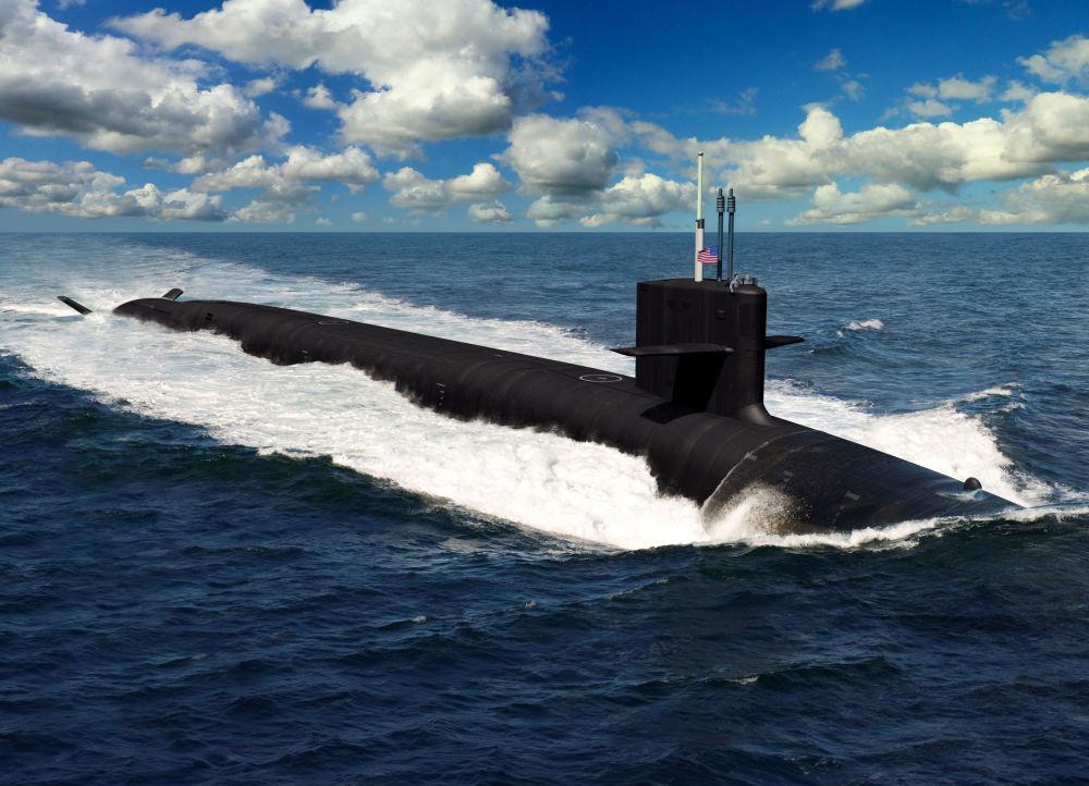 Ilustrace budoucí americké ponorky třídy Columbia, která má nahradit třídu Ohio.