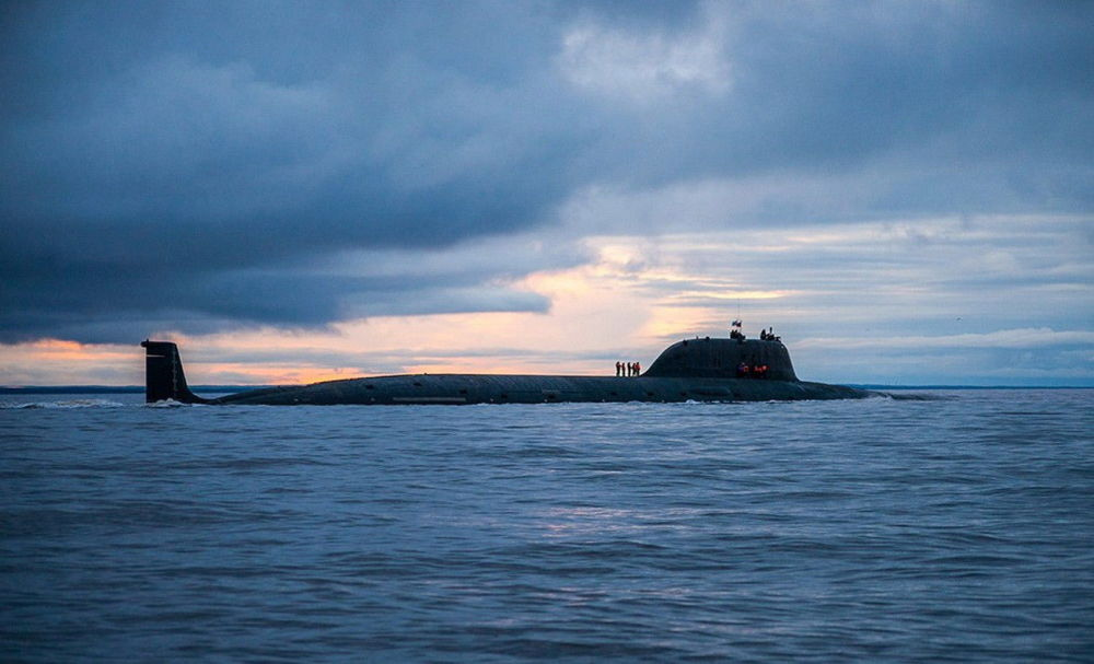 Ruská atomová ponorka Severního loďstva Severodvinsk projektu 885 Jaseň.