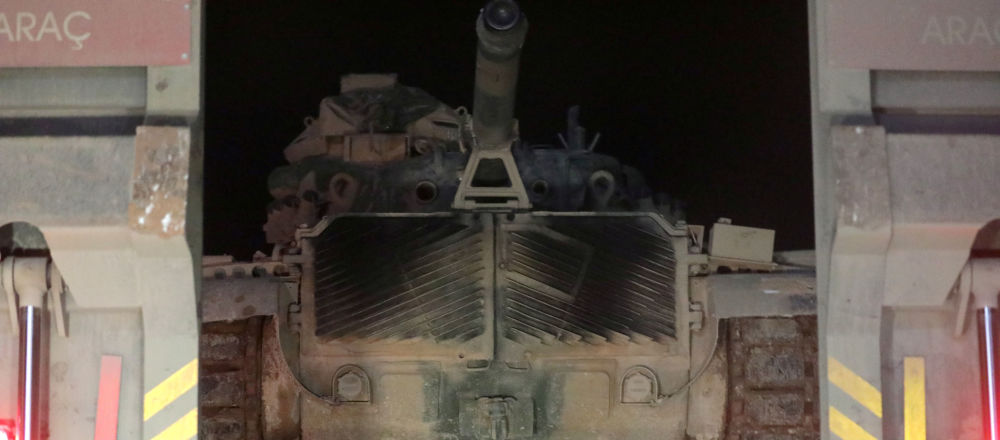Turecká vojenská technika v provincii Idlib