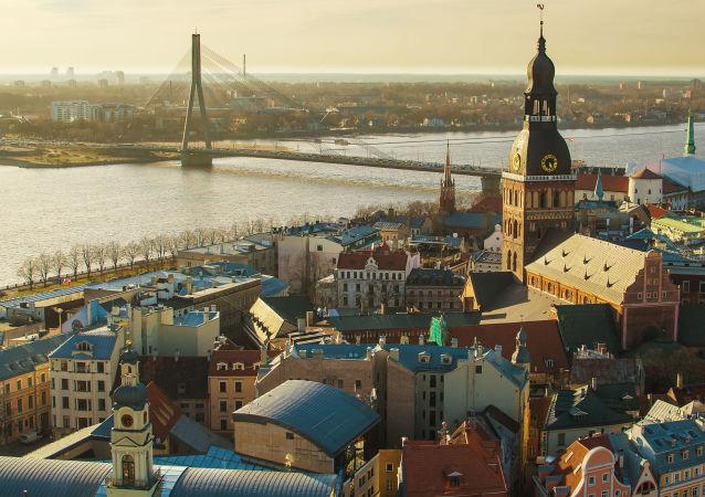 Pohled na Rigu, Lotyšsko