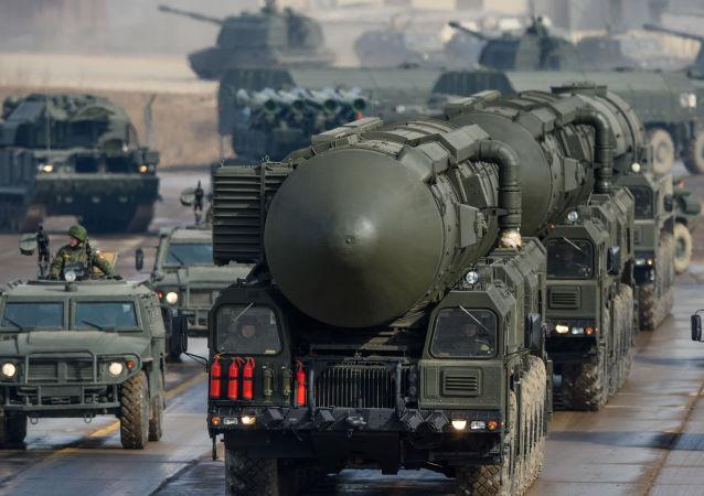 Mezikontinentální balistická raketa Topol-M. Ilustrační foto