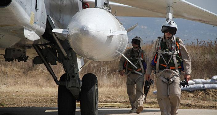 Ruští letci v Sýrii