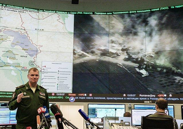 Oficiální mluvčí MO Ruska generálmajor Igor Konašenkov