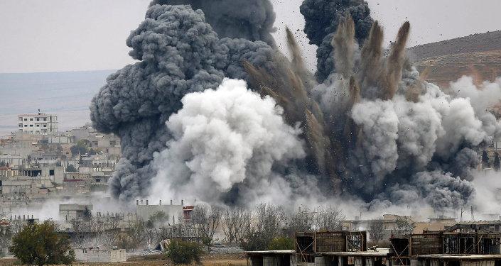 Letecký útok USA v Sýrii. Ilustrační foto