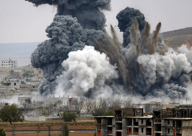 Letecký útok USA v Sýrii. Archivní foto