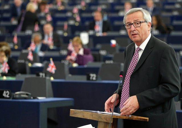 Předseda Evropské komise Jean-Claude Juncker během zasedání Evropského parlamentu