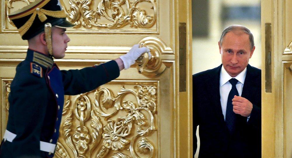 Ruský prezident Vladimir Putin v Kremlu